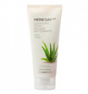 Очищающая пенка для лица   Herb Day 365 Aloe Cleansing Foam