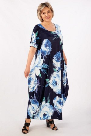 Платье цветы голубые, мятный/черный,Джинс/зеленый, джинс/желтый,  розовый/черный,  листья желтые,  листья сиреневые,   Лёгкое платье в стиле «бохо», тренд текущего сезона. Рукав цельнокроенный, горлов