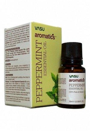 Масло эфирное Перечная мята Васу Peppermint Essential Oil Vasu 10 мл.