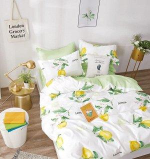 Комплект постельного белья Сатин - Лимон