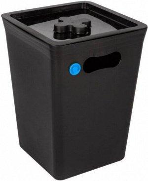 STOCKHOLM Контейнер для мусора 15л, цв.графит PT6571ГРФ
