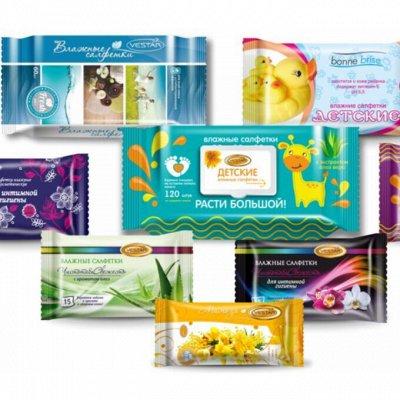 Женская гигиена.Каждый день под защитой!ALWAYS,TAMPAX,Bella  — Влажные салфетки — Ватно-бумажные изделия