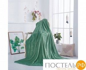 "782/150.006 Жаккардовый плед ""KARTEKS"" 150х200см Зигзаг-06 зелёный"