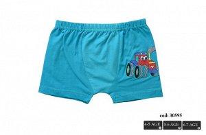 Трусы для мальчиков ( шорты/аппликация) 30595