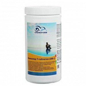 Хлорные таблетки для длительной дезинфекции воды в бассейне Кемохлор Т-таблетки (200 г) 1 кг