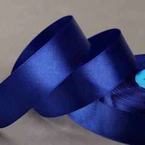 Лента атласная, 25 мм ? 33 ± 2 м, цвет синий №094