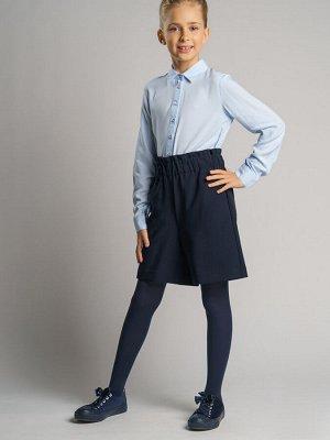 Блузка текстильная для девочек голубой