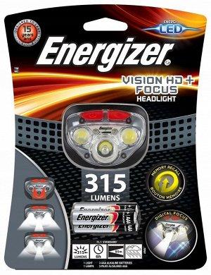 Фонарь налобный ENERGIZER Headlight Vision HD Focus св.диод 300 люм влагозащ.3xAAA (в/компл) 1/6