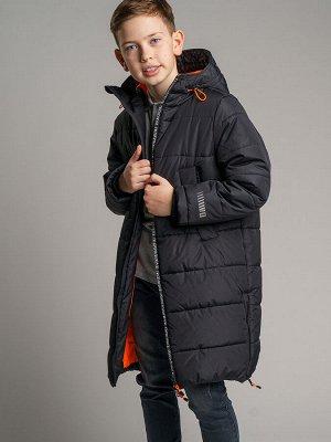 Пальто текстильное для мальчиков черный