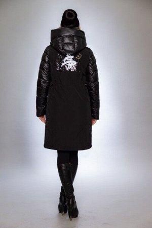 Женская куртка зимняя F1281 черный