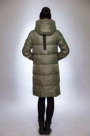 Женская куртка зимняя 19-251 фисташка
