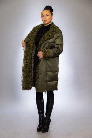 Женская куртка зимняя 9124 хаки