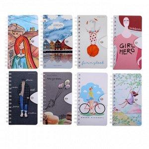 Блокнот В6, 96 листов на гребне Travel Journal, твёрдая обложка, блок крафт-бумага, 80 г/м2, МИКС