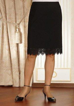 Юбка Длина:  58-60см с гипюром Ткань:  100% полиэстер Черная  юбка   с   кружевом   по   низу  вполне подходит для офисного гардероба. Модные тенденции меняются, но мода на кружевные юбки остаётся. Ди