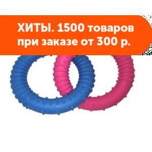 Игрушка для собак Два кольца с шипами TPR 13см
