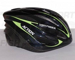 Шлем роликовый зелёный (х1)