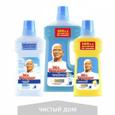 ARIEL • TIDE • LENOR • FAIRY • Mr.PROPER • ALWAYS • ORAL-B — Средства для уборки Mr.PROPER — Для мытья полов