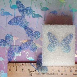 Бабочка 03 Бабочка как на фото, рисунок одинаковый с 2 сторон. Текстиль. Воздушная, полупрозрачная