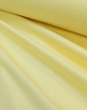 "Бязь ""Мелкий горох на бледно-желтом"",хлопок-100%,1.5 м, 120 гр/м.кв"