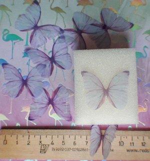 Бабочка 02 Бабочка как на фото, рисунок одинаковый с 2 сторон. Текстиль. Воздушная, полупрозрачная