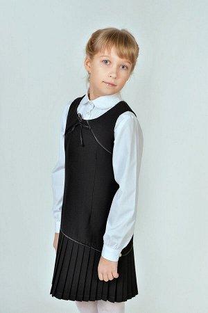 Черный школьный сарафан, модель 0214