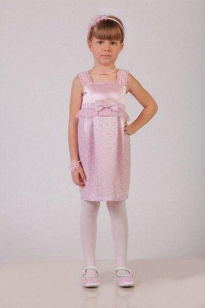 Нарядное розовое платье для девочки, модель 0107