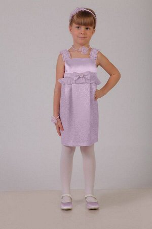 Нарядное сиреневое платье для девочки, модель 0107
