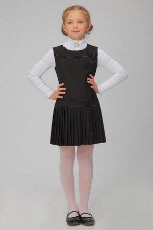 Черный школьный сарафан, модель 0203