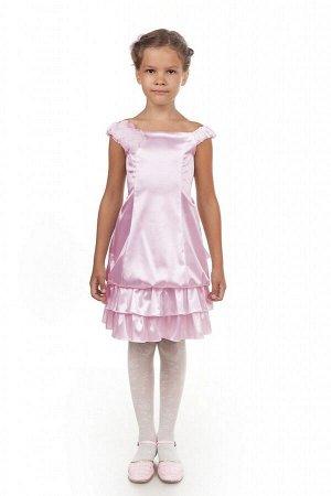Розовое платье для девочки, модель 0115