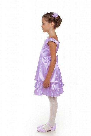 Сиреневое платье для девочки, модель 0115