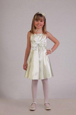Молочное платье для девочки, модель 0112