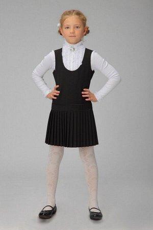 Черный школьный сарафан, модель 0202