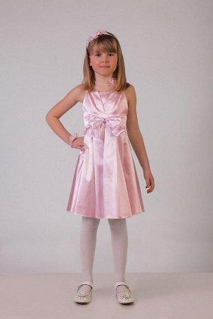 Розовое платье для девочки, модель 0112
