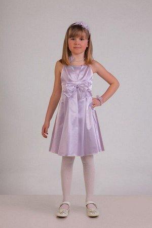 Сиреневое платье для девочки, модель 0112