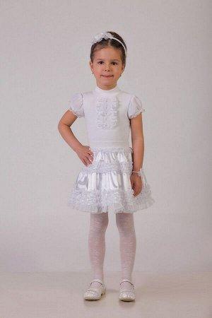 Нарядная белая юбка для девочки, модель 0304