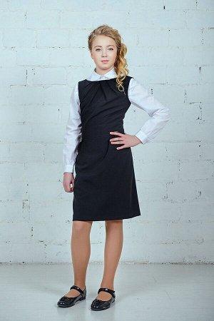 Черный школьный сарафан, модель 0211