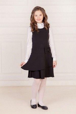 Черный школьный сарафан, модель 0207
