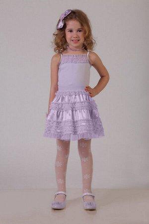 Нарядная сиреневая юбка для девочки, модель 0304