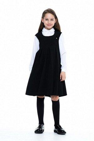 Черный школьный сарафан, модель 0218