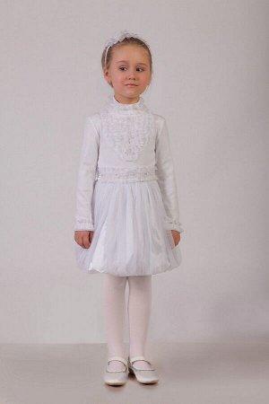 Нарядная белая юбка для девочки, модель 0305
