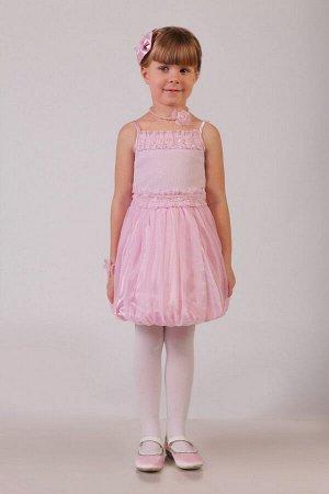 Нарядная розовая юбка для девочки, модель 0305