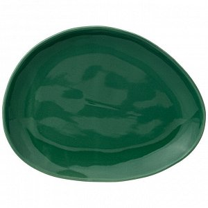 "Тарелка закусочная ""meadow"" 25*19 см зеленая"