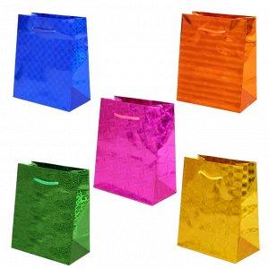 """Бумажные подарочные пакеты """"Голография"""""""