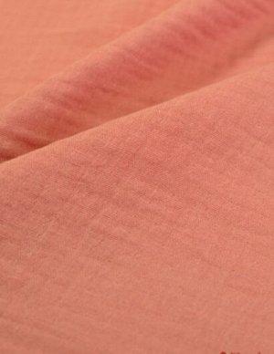 Марлевка двухслойная с эффектом жатости, цв.Винтажная роза, ш.1.42м, хл.-100%, 110гр/м.кв