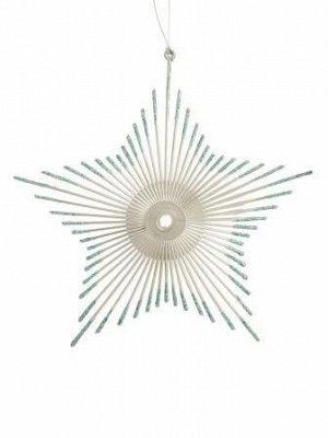 Новогоднее подвесное украшение Звезда в голубом