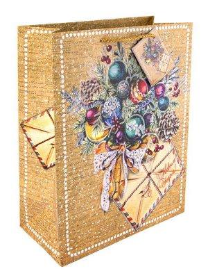 Бумажный пакет Еловый букет