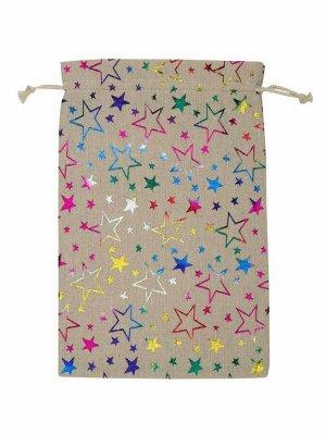 Декоративный мешочек Звезды, 0,2*20*30