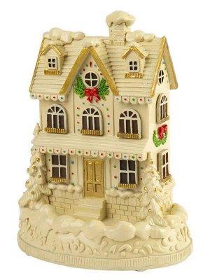 Новогоднее украшение Рождественский домик со светодиодной подсветкой