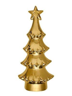 Новогодняя фигурка Золотая елка с рельефом 12