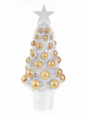 Новогоднее украшение Ёлка Золотая, 12,2x11x29